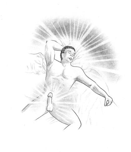 erection stays after orgasm